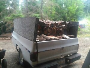 2 cords of mixed firewood with trailer!