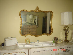 "❤Miroir Antique 45"" <-> Mirror Gold Gild, Ornate  100 yrs old ❤"