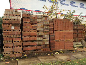 Red Building Bricks (aprox 500)