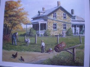 """Roger Witmer """" Little Red Wagon """" Limited Edition Print Kitchener / Waterloo Kitchener Area image 3"""
