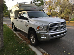 Ram 2500 truck and camper for sale.