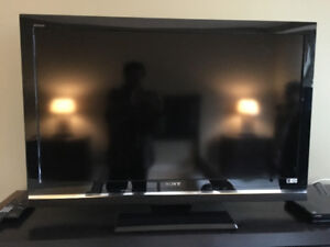Sony Bravia TV, large screen, with separate DVD/Blue Ray