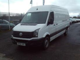 Volkswagen Crafter CR35 lwb High Roof 136ps DIESEL MANUAL WHITE (2015)