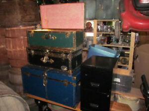 coffre malle trunk vintage ancien valise storage box