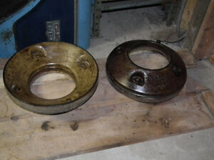 CAST IRON WHEEL WEIGHTS [2] ABOUT 100 LBS EACH . Windsor Region Ontario image 5