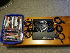 PLAY STATION 3 w/ 22 GAMES & 3 CONTROLLERS!!