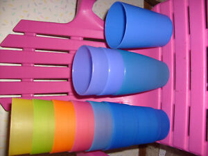 Tho 10/pic, have 11, Good Cond Used Plastic Glasses
