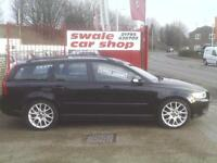 2010 10 Reg Volvo V50 1.6D DRIVe S Black Manual 62.8 MPG COMBINED,£20 TAX ,A/C