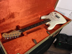 Fender Jeff Beck stratocaster with tweed ohsc