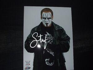 STING wrestling wwe wcw signed autographed 8x10 photo nwo ecw