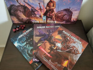 D&D 5e players hand book, monster manual, dungeon masters guide