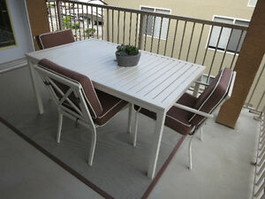 Patio Set with 4 chairs