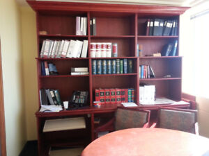 Wall Unit  / Bookcase with work station custom made for office