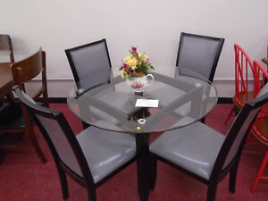 ROUND GLASS DINING SET 39.99/MONTH