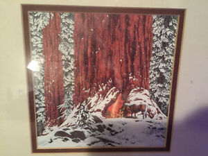 Bev Doolittle painting of Christmas Day , give or take a week.