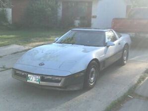 1985 Silver Corvette For Sale