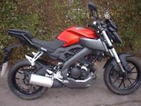 Yamaha MT125Learner Legal Motorcycle with ABS