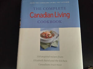 the complete canadian living cookbook. hard cover brand new