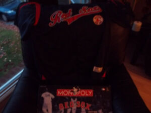 Boston Red Sox Monopoly Game and Jersey