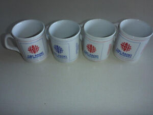 4 Vintage CBC NB Mugs