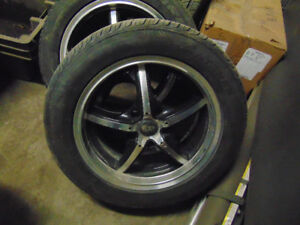 SET OF 4 16 INCH HTL WHEELS AND TIRES