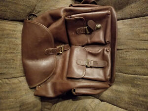 Eddie Bauer all leather backpack. Nice.