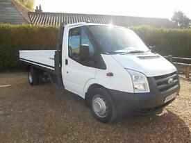 2011 61 FORD TRANSIT 2.4TDCI 115 350 LWB DROPSIDE 1OWNER FSH IMMACULATE AIRCON