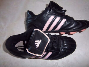 Girls Addidas Soccer Cleats, Size 4