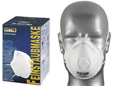 12 Stck. Feinstaubmaske FFP2 Atemschutzmaske Atemschutz Staubmaske Ventil Tector