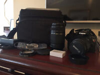 Canon T2i + objectifs 18-55mm et 55-250mm + Bag + extra battery