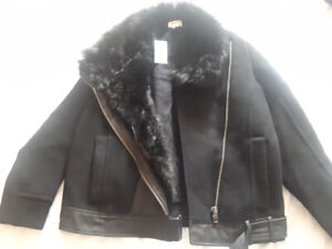 brand new never worn helmut lang fur coat