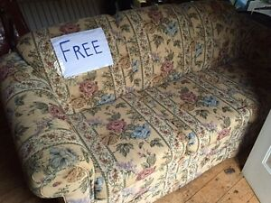 Free couch - located at Little Bonne Bay Pond