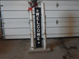 Decorative wooden sign post