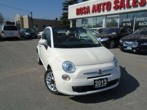 2012 Fiat 500 Pop  LOW KM  AUX BACKUP SENSOR SAFETY INC