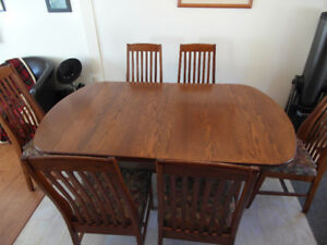 Solid Oak Dining Set