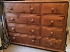 Large solid pine apothecary chest of drawers sideboard cabinet furniture Sutton sm3