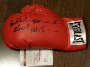 Mike Tyson signed boxing glove - various inscriptions JSA/COA Cambridge Kitchener Area image 4