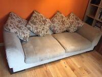 Large 3 & 2 seater sofa.