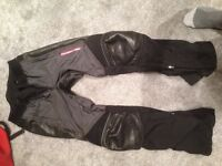 Hein Gericke pro sport goretex textile motorcycle trousers - small