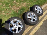 Peugeot 206 gti/cc 15inch alloy wheels 4x108 Pcd 6j