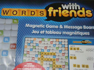 NEW WORDS WITH FRIENDS MAGNETIC GAME & MESSAGE BOARD GAMES 13+ Regina Regina Area image 8