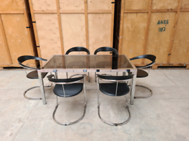 Mid Century 1970s Dining Table and Chairs