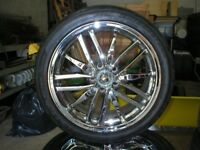 """AM. RACING 18"""" CHROMES W/TIRES (114.3 & 115) FWD OFFSET London Ontario Preview"""