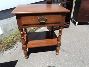 Bed side table or nightstand.