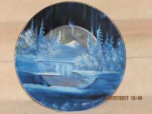 Oil Painting on Gold Mining Pan