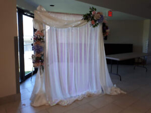 Wedding Arch - Decorations Included - Dismantles - Very Portable
