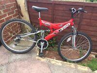 Full suspension unisex mountain bike 45£
