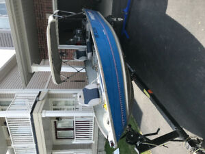 Prince Craft fishing boat with 25hp Johnston motor and trailer