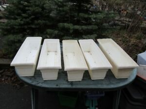 PLANT POTS / PLANTERS - RECTANGULAR, ETC. - REDUCED!!!!