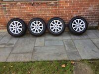 """VW 4 x Alloy Wheels 15""""& Tyres"""